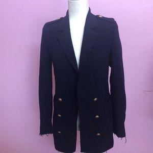 Zara Navy blue knit blazer
